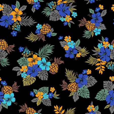 Hibiscus flower pattern Векторная Иллюстрация