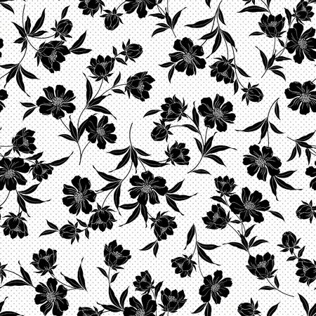 showy: Flower illustration pattern