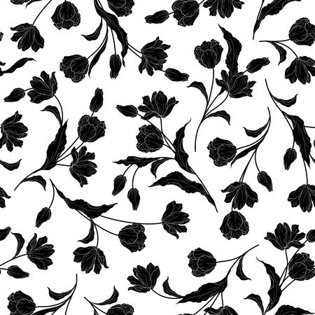simplification: Flower illustration pattern