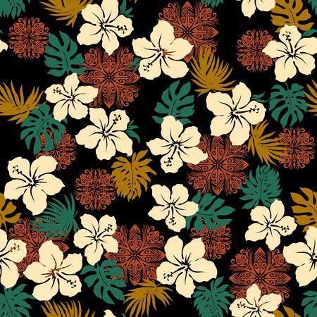 Hibiscus pineapple pattern