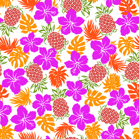 vigorous: Hibiscus pineapple pattern