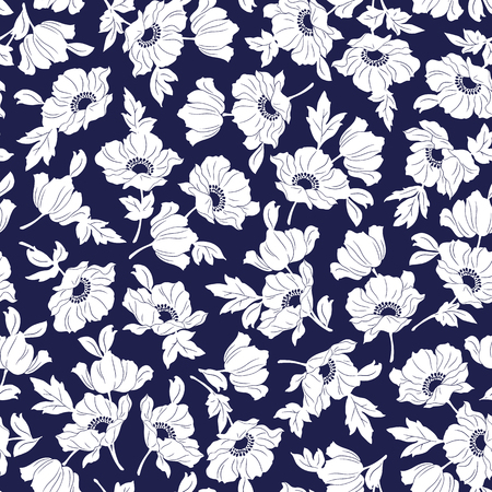 Flower illustration pattern Stok Fotoğraf - 51233688