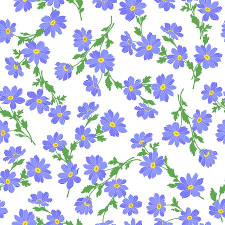 marguerite: Flower illustration pattern
