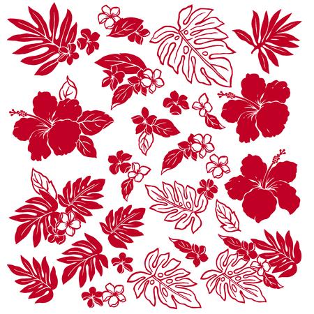 Ilustración de la flor del hibisco