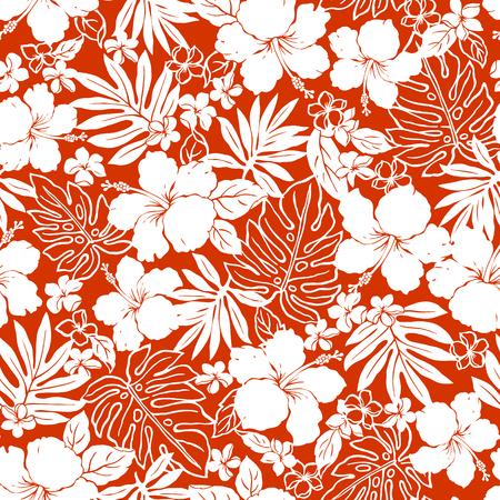 hawaiian: Hibiscus flower pattern