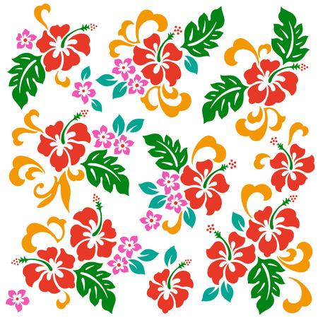 flower leaf: Hibiscus flower illustration