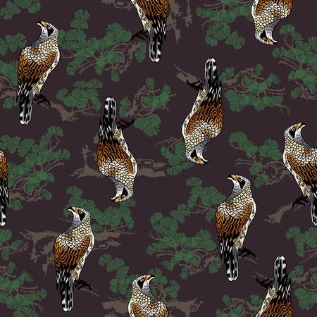 japanese painting: Japanese painting hawk pattern