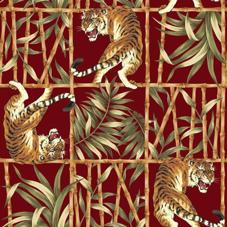 forceful: Tiger jungle illustration pattern