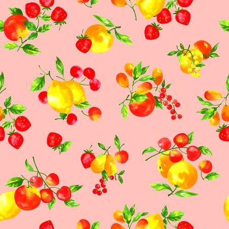 motif de fruits Aquarelle