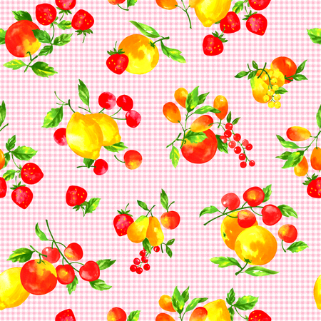 naturally: Watercolor fruit pattern