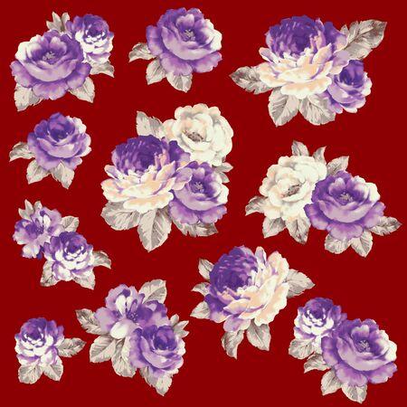 antiquated: Rose illustration object Stock Photo