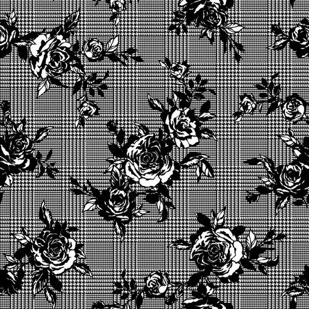 simplification: Rose illustration pattern
