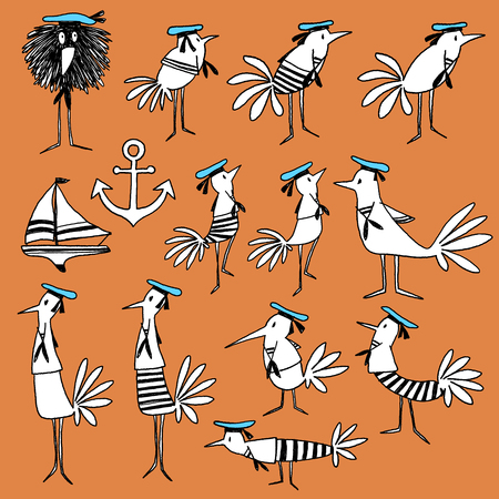 clothes interesting: Bird illustration comics style
