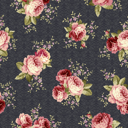 Rose bloempatroon