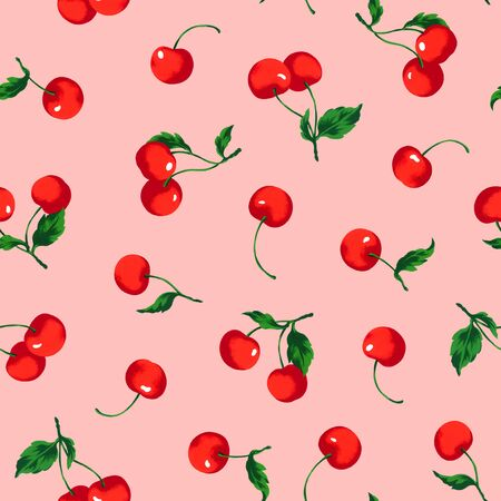 acidity: Pattern of the cherry Stock Photo