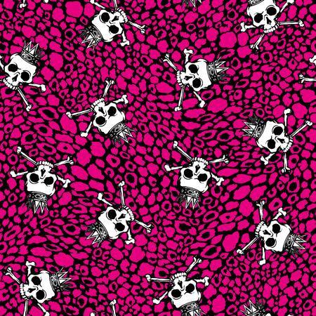 devil's bones: Skull illustration pattern,