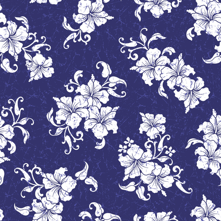 vigorous: Tropical flower pattern