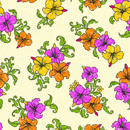 tropical: Tropical flower pattern