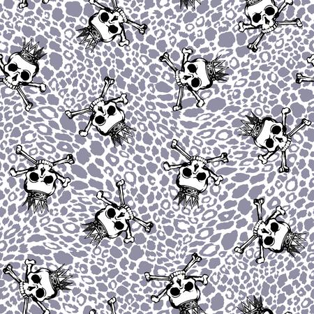 Skull illustration pattern,
