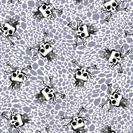 immoral: Skull illustration pattern,
