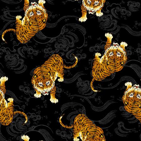 Tiger illustration pattern