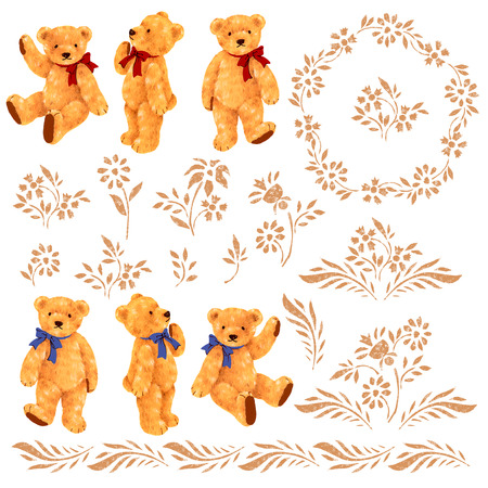 cheeky: Pretty bear illustration