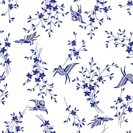 simplification: Pattern of a bird and the grass