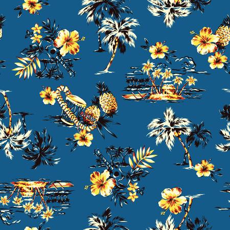 アロハ シャツのパターン 写真素材