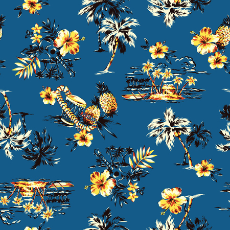 알로하 셔츠 패턴
