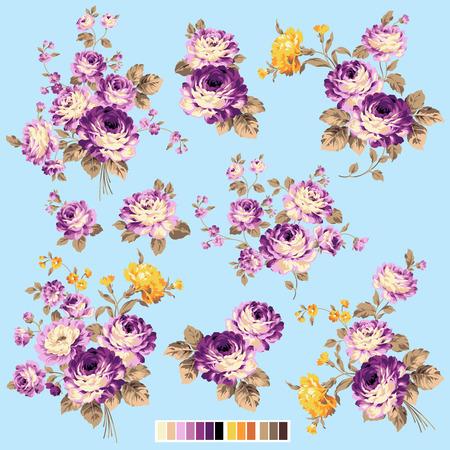 rose bouquet: Rose flower illustration Illustration