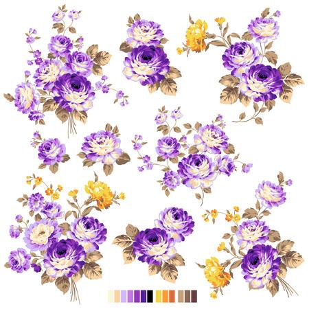 ar: Rose flower illustration Illustration