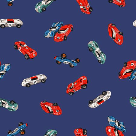 car pattern: Old racing car pattern