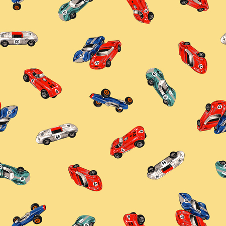 racing car: Old racing car pattern