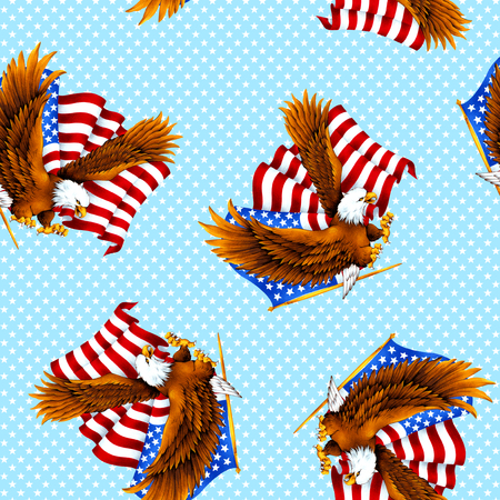 haliaeetus: Eagle and Stars and Stripes pattern
