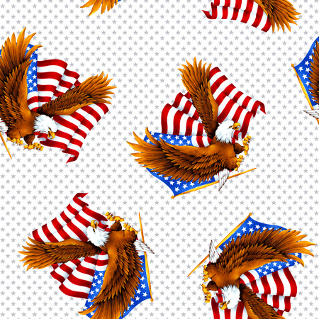 berserk: Eagle and Stars and Stripes pattern