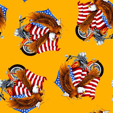 vigorous: Eagle and Stars and Stripes pattern