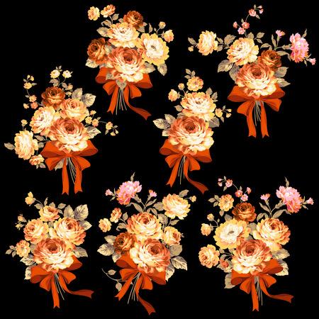 corsage: Rose flower illustration,