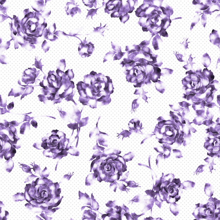 irregularity: Rose illustration pattern