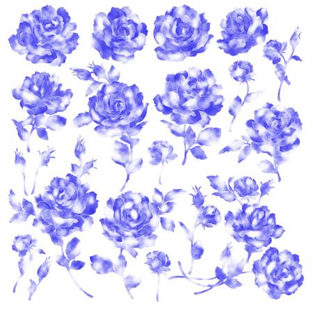 irregularity: Rose illustration object Stock Photo