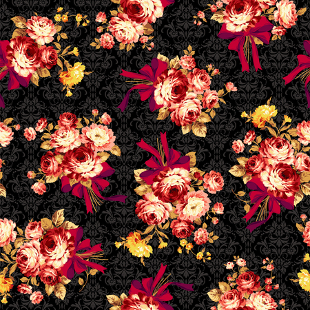 Rose flower pattern, 向量圖像