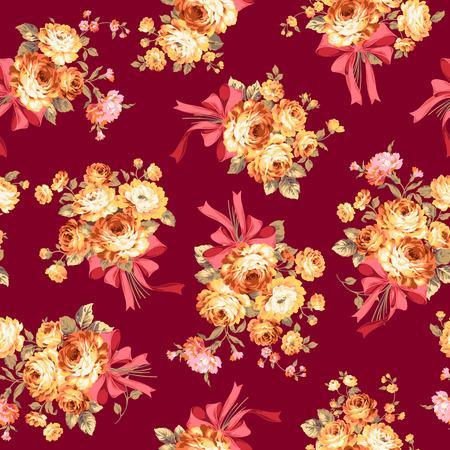 corsage: Rose flower pattern, Illustration