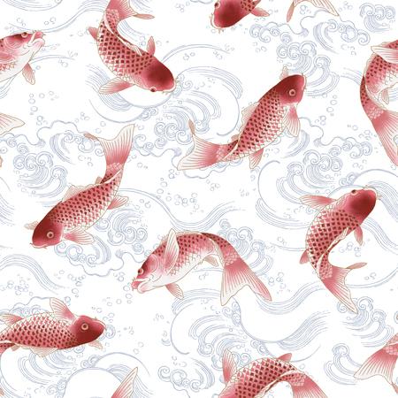 jumping carp: carp pattern Stock Photo
