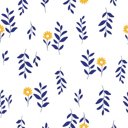 repeated: Leaf illustration pattern