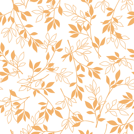 simplification: Leaf illustration pattern