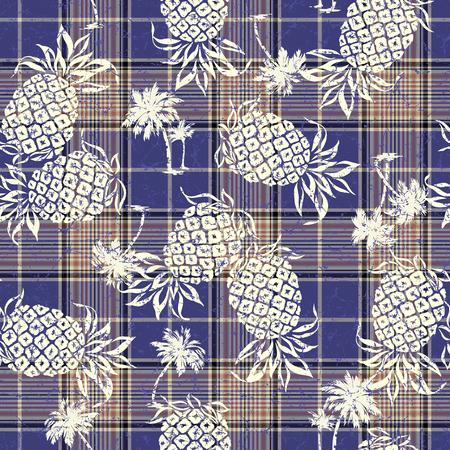 tahiti: pattern of pineapple Illustration