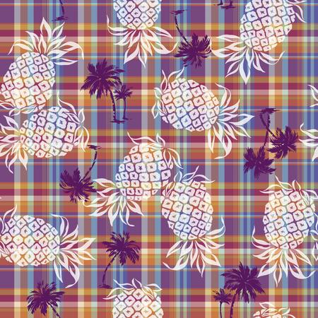 madras: pattern of pineapple Illustration