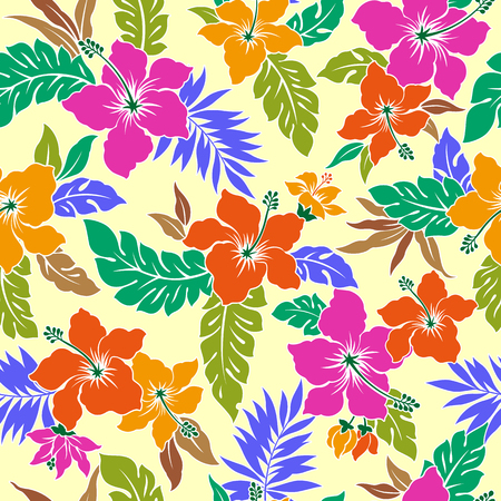 tahiti: Tropical flower pattern