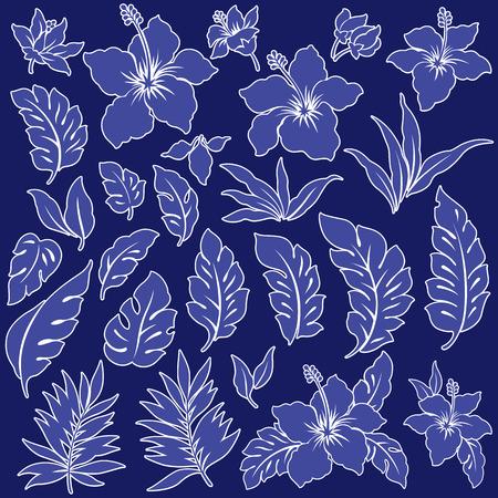 vigorous: Tropical flower illustration