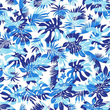 熱帯の植物や迷彩パターン