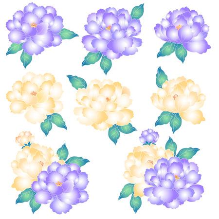 dyeing: Japanese style peony